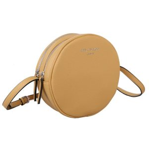 Yellow | Circular Cross Body Bag