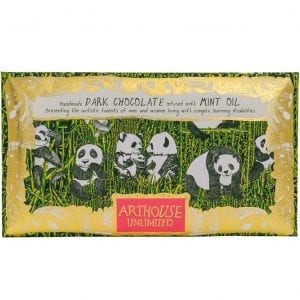 Handmade Dark Chocolate Infused with Mint Oil