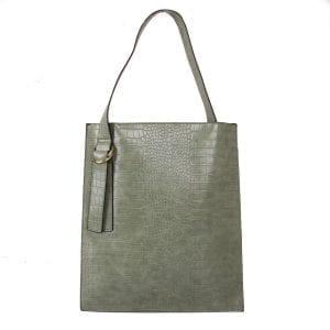 Green Croc Effect | Shoulder Bag