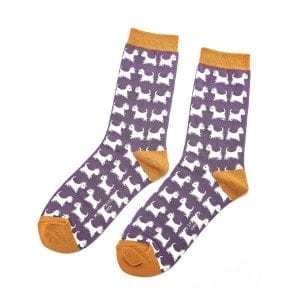 PURPLE SCOTTIE DOGS | SOCKS