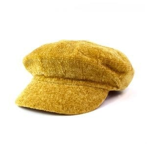MUSTARD | CHENILLE BAKER BOY HAT