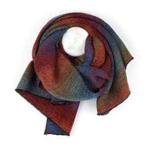 Multi Pleated Ombre Scarf