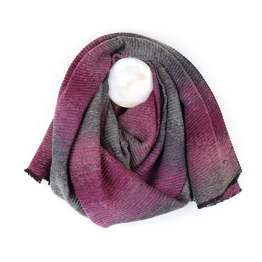 Pink Mix Pleated Ombre Scarf