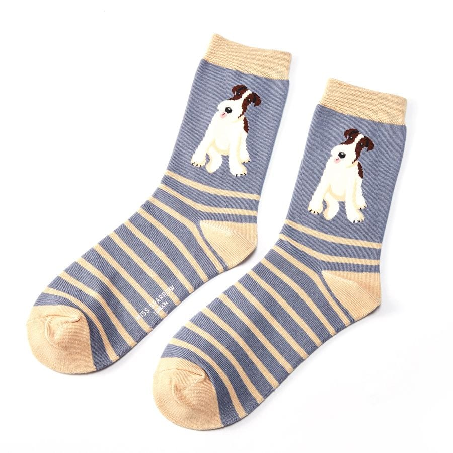 BLUE STRIPE FOX TERRIER | SOCKS