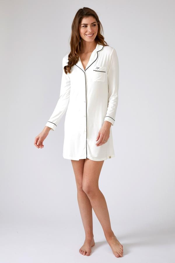 BAMBOO | CREAM NIGHTSHIRT