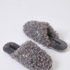 BEAU | GREY SLIPPER