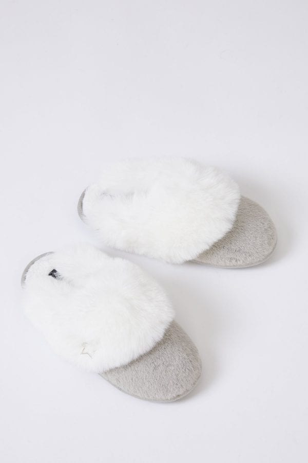 BETH | GREY SLIPPER