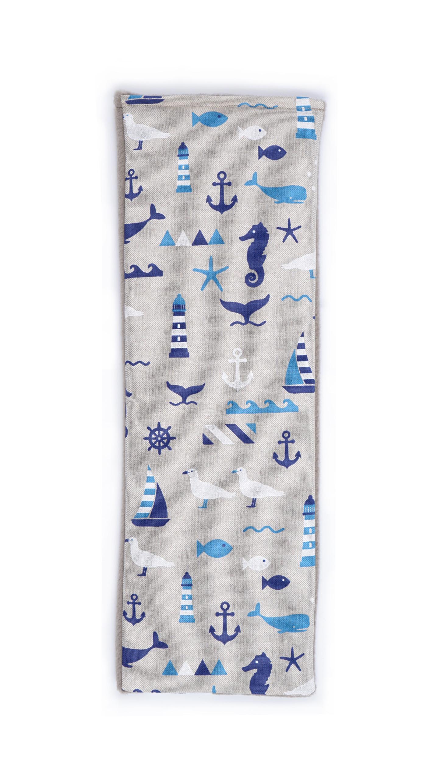 Blue Nautical   Lavender Duo Wheat Bag