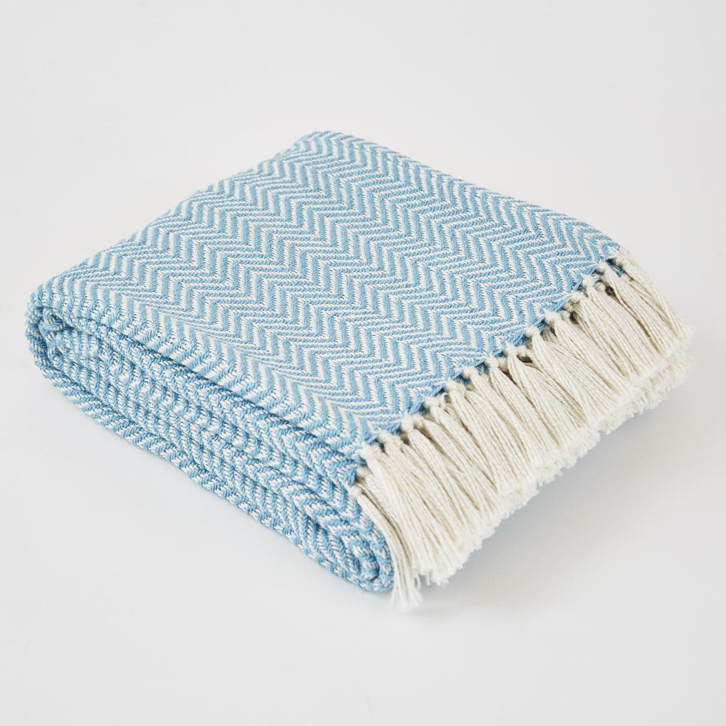 Herringbone | Azure Blanket