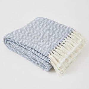 Herringbone | Lavender Blanket