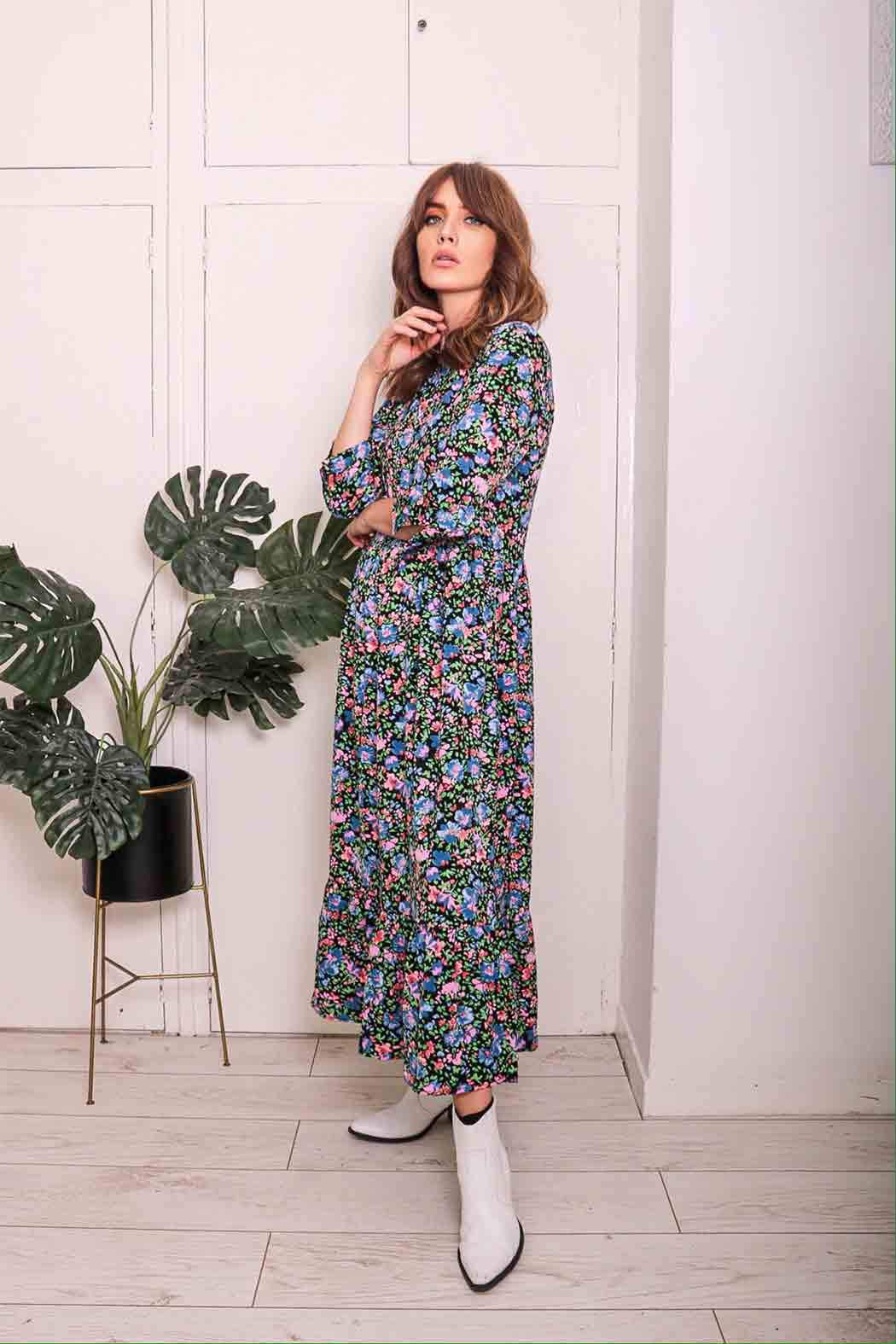 BRIANNA | FLORAL SMOCK DRESS
