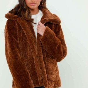 BROWN BORG | FUR COLLAR JACKET