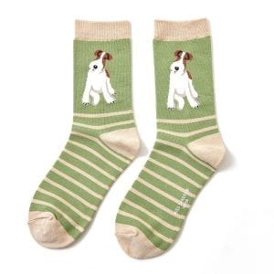 SAGE GREEN FOX TERRIER | SOCKS