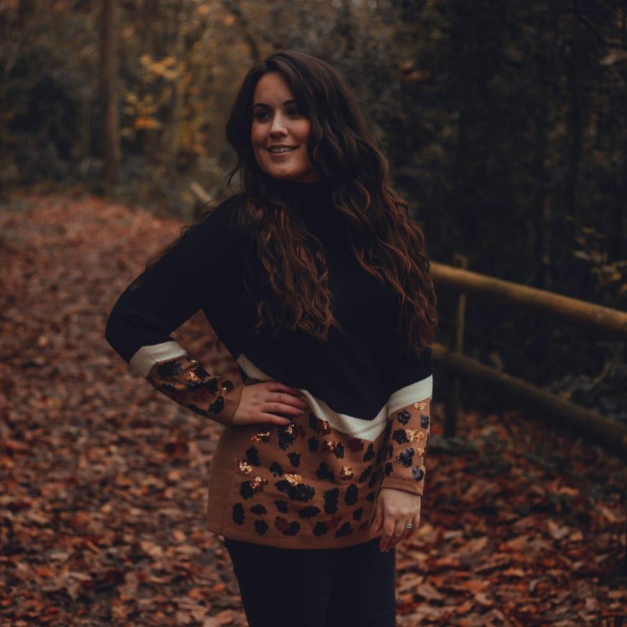 Autumnal Sequin Top 4