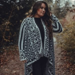 Black & White Patterned Pullover