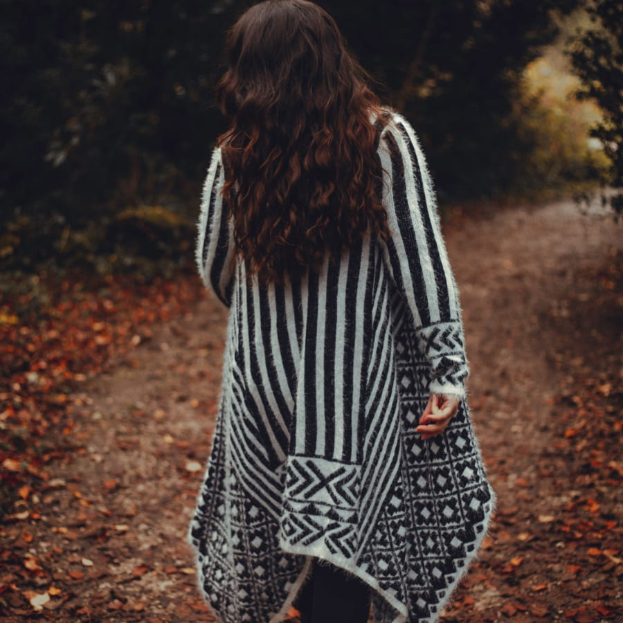 Black & White Patterned Pullover 5