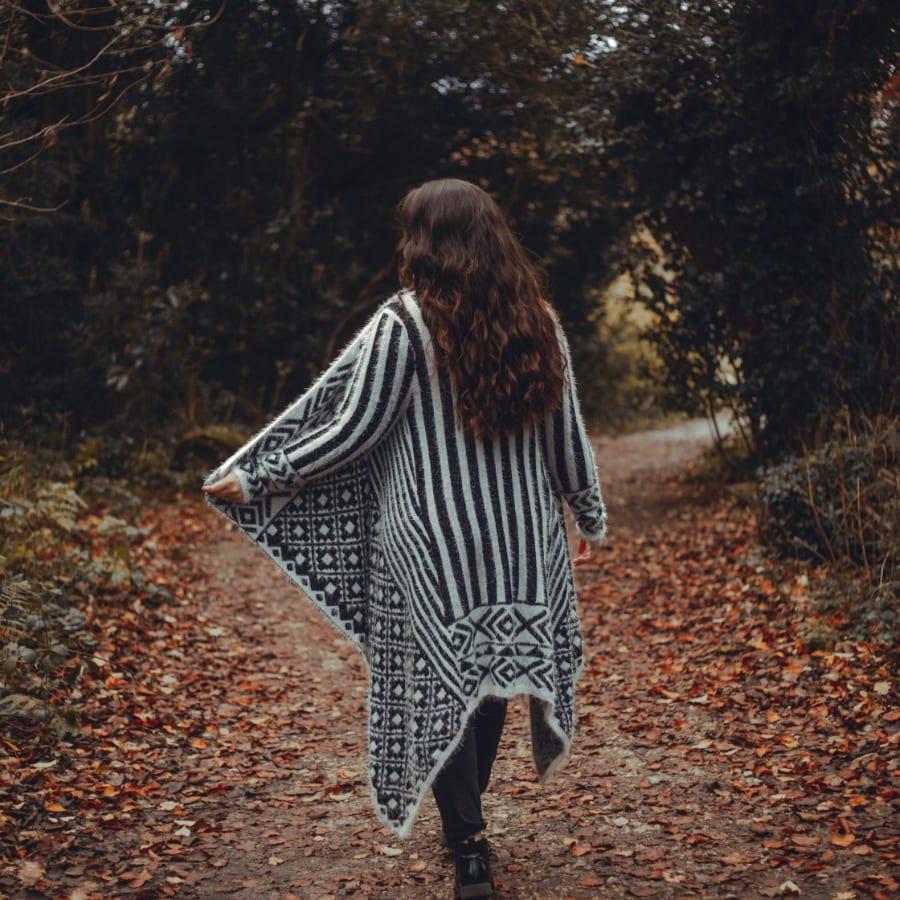 Black & White Patterned Pullover 6