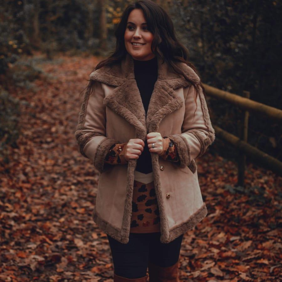 Brown Fluffy Winter Coat 2