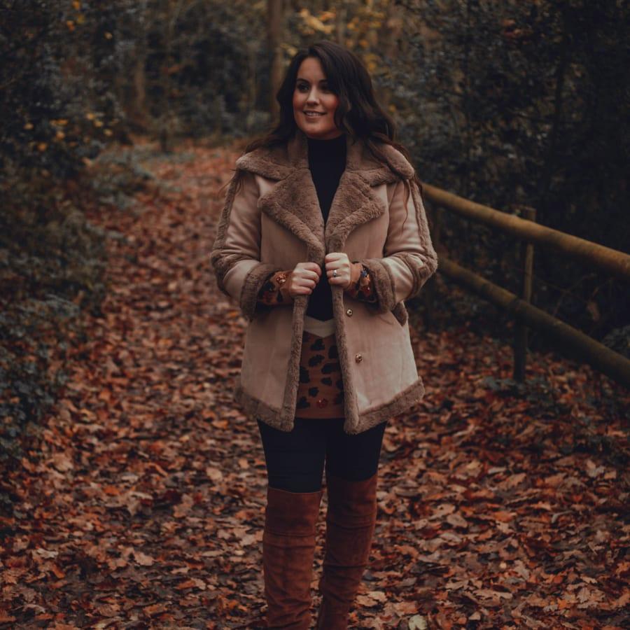 Brown Fluffy Winter Coat 3