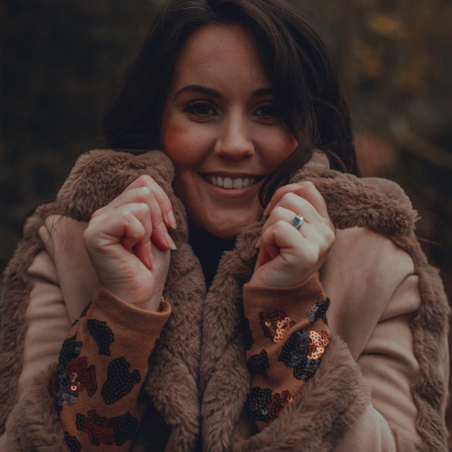Brown Fluffy Winter Coat 5