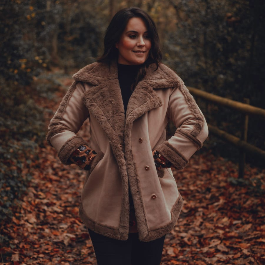 Brown Fluffy Winter Coat 7