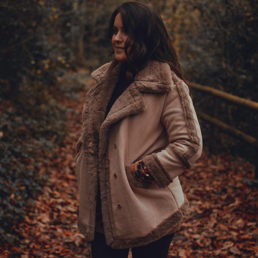 Brown Fluffy Winter Coat 8