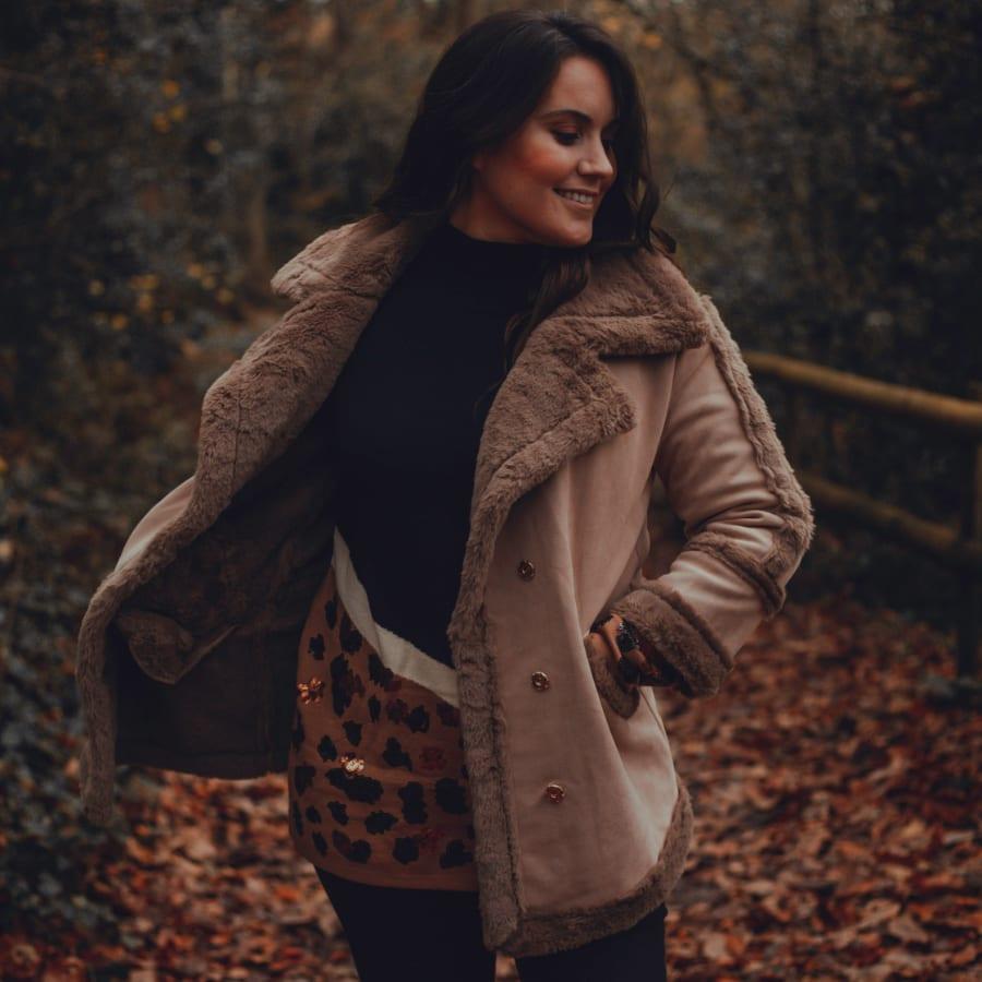 Brown Fluffy Winter Coat 9