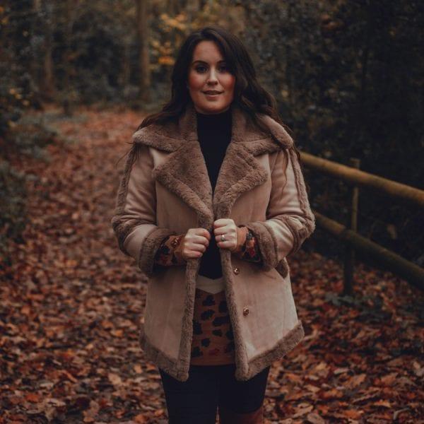 Brown Fluffy Winter Coat
