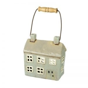 Ceramic House Candle Holder With Handle