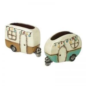 Ceramic Round Caravan Planter