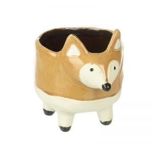 Ceramic Standing Fox Planter