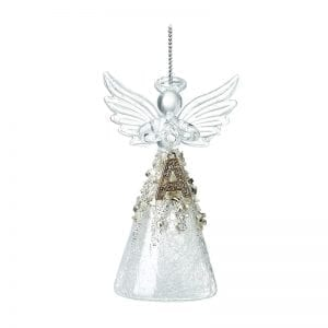 Glass Angel With Letter A