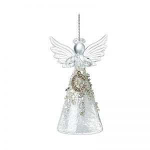 Glass Angel With Letter C