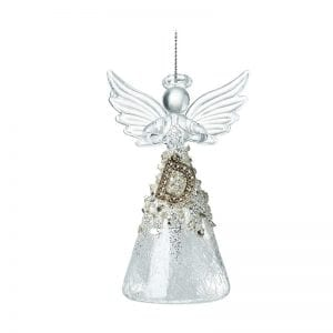Glass Angel With Letter D