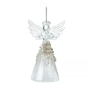 Glass Angel With Letter E