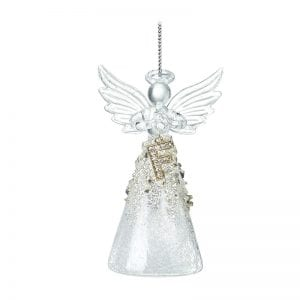 Glass Angel With Letter F