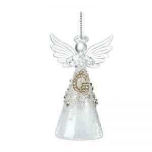 Glass Angel With Letter G
