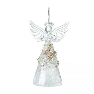 Glass Angel With Letter H