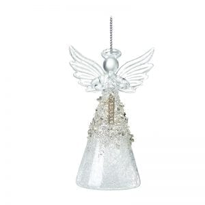 Glass Angel With Letter I
