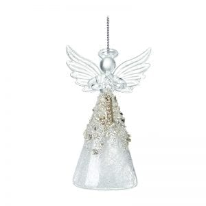 Glass Angel With Letter J