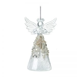 Glass Angel With Letter K