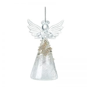 Glass Angel With Letter M
