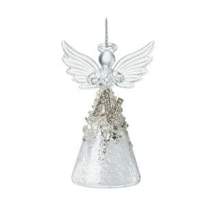 Glass Angel With Letter N