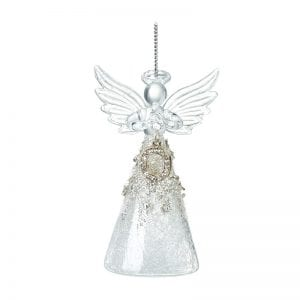 Glass Angel With Letter O