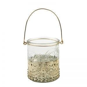 Glass Hanging Tea Light Holder