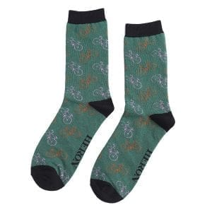 Green Little Bikes Socks