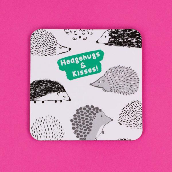 Hedgehugs & Kisses Coaster
