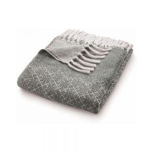 Trellis Warm Grey Throw
