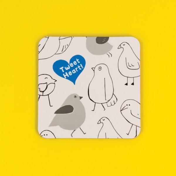 Tweet Heart Coaster