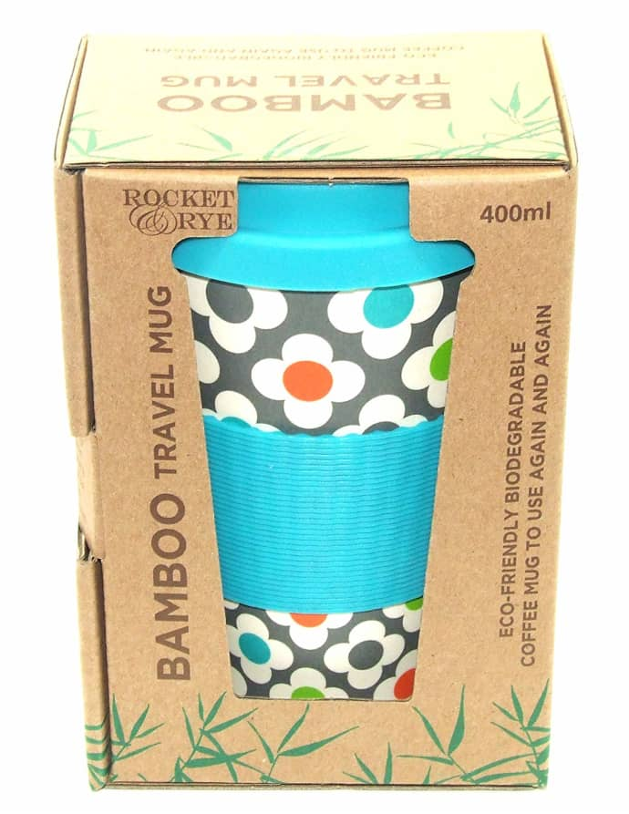 Blue Flowers | Bamboo Eco Mug
